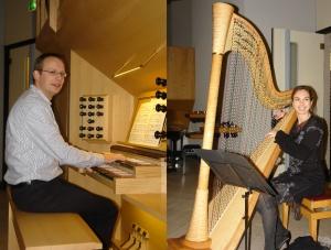 Annemieke IJzerman-harp en Erik van der Heijden-orgel
