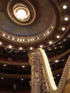 Harp in de zaal